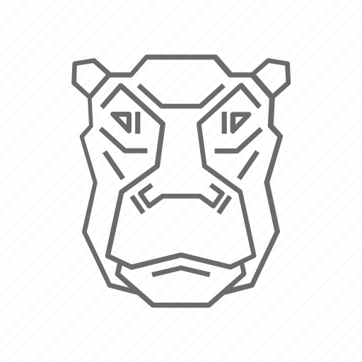 abstract, animal, hippo, nature, outline, wild, zoo icon