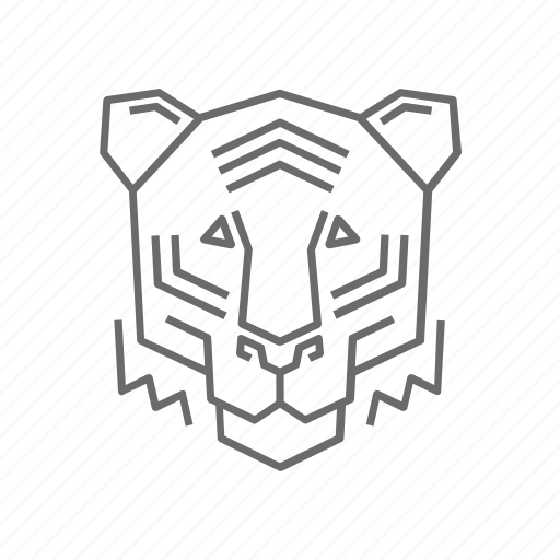 Outline, nature, abstract, zoo, tiger, animal, wild icon