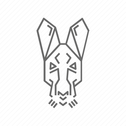 abstract, animal, hare, nature, outline, wild, zoo icon