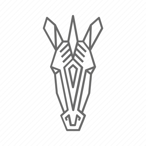 abstract, animal, nature, outline, wild, zebra, zoo icon