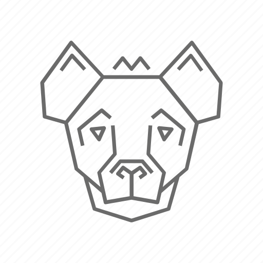 Outline, nature, abstract, zoo, hyena, animal, wild icon