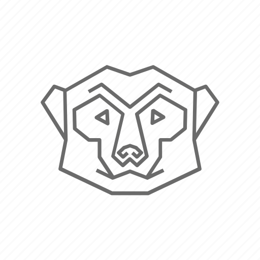 Abstract, animal, meerkat, nature, outline, wild, zoo icon - Download on Iconfinder