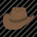 cowboy, hat, headdress, male, west, wild icon