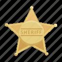 badge, favorite, sheriff, star icon