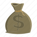 bag, coin, finance, money