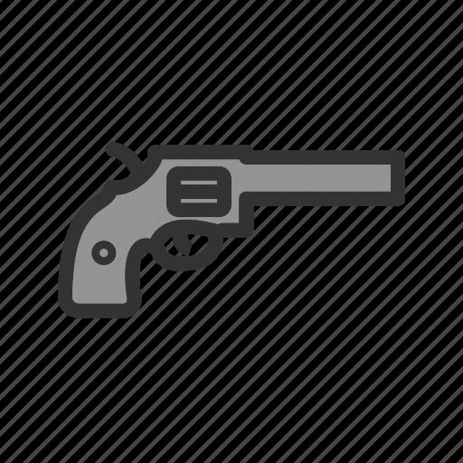 cowboy, gun, handgun, pistol, revolver, shot, weapon icon