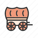 carriage, cart, cowboy, horse, west, wheel, wild icon