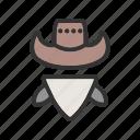 bandit, burglar, cowboy, hat, thief, west, western
