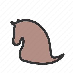cowboy, hat, horse, rural, west, wild icon