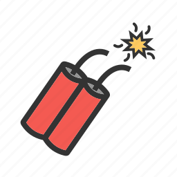 bomb, cowboy, dynamite, grenade, metal, single, war icon