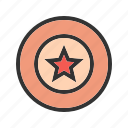 badge, gold, old, star, west, western, wild icon
