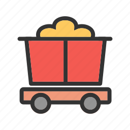 antique, cart, old, trolley, west, wheel, wild icon