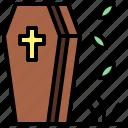 coffin, dead, furniture, halloween, horror, spooky, terror icon