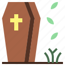coffin, dead, furniture, halloween, horror, spooky, terror icon
