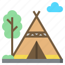 camping, city, cultures, tent, tipi, wigwam icon