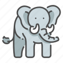 africa, animal, big, elephant, safari, strong, wildlife icon