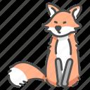 fox, fur, hunter, mammal, tail, wildlife, zoo icon