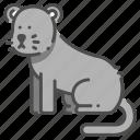 animal, carnivore, panther, safari, strong, wildlife, zoo icon