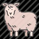 animal, lamb, mammal, sheep, wildlife, wool, zoo icon