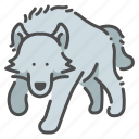 animal, beast, dangerous, howl, wildlife, wolf, zoo icon