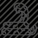 danger, reptile, snake, viper, wildlife, zoo icon