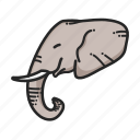 africa, animal, animalpack, elephant, jungle, tusk icon