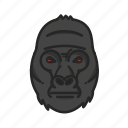 animalpack, gorilla, harambe, jungle icon