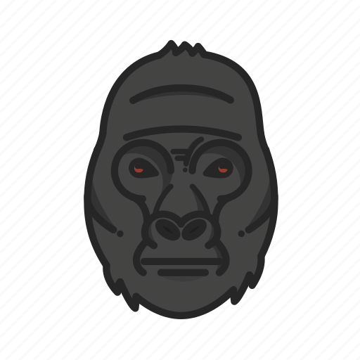 animalpack, gorilla, harambe, jungle icon
