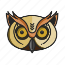 animalpack, forest, night, nocturnal, ovo, owl, woods icon