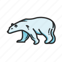 animalpack, arctic, bear, logo, north, polarbear, winter icon