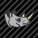 africa, animalpack, desert, hunt, rhino, tusk icon