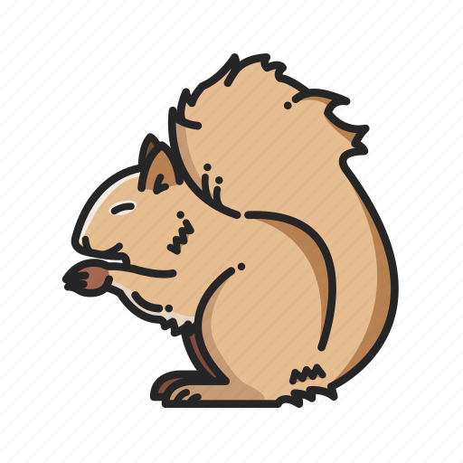 animalpack, chomp, forest, nature, squirrel, teeth, wood icon
