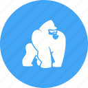 africa, animal, gorilla, gorillas, monkey, monkeys, mountain icon