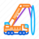 crane, delivery, mounted, repair, research, technology, truck