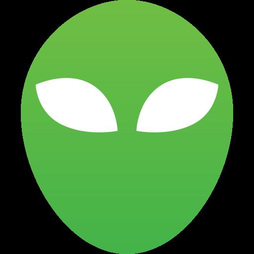 alien, alien head, fantastic, green, mask, sci fi, ufo, unknown icon