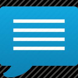 bubble, chat, comment, comments, help, message, question, speech, talk, voice icon