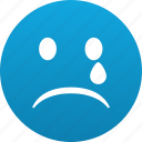 bad, cry, disturb, emoticon, emotion, face, sad, sadly, shocked, smile, smiley, sorrow, ugly, unhappy icon