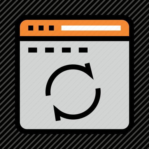 Internet, online, refresh, reload, window icon - Download on Iconfinder