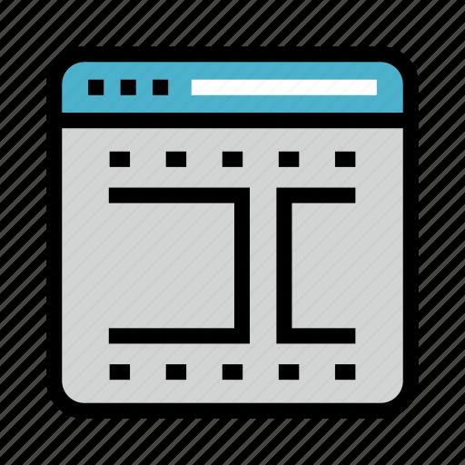 Movie, online, reel, webpage, window icon - Download on Iconfinder