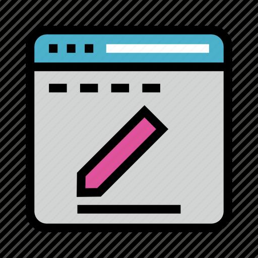 create, internet, online, webpage, write icon