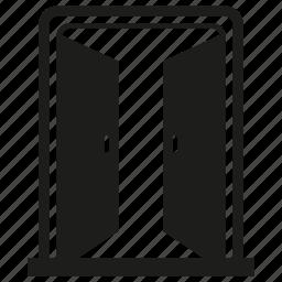 open, window icon