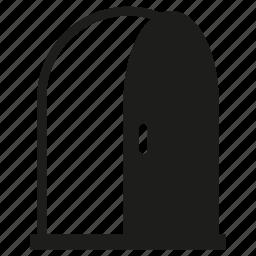 door, open, window icon