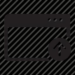arrow, browser, internet, up, web, window, windows icon