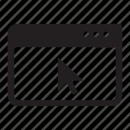 browser, cursor, internet, web, windows icon
