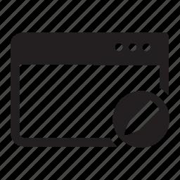edit, internet, pen, pencil, web, window icon
