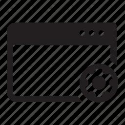 internet, options, preferences, settings, web, window icon