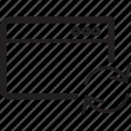 arrow, browser, clockwise, refresh, window icon