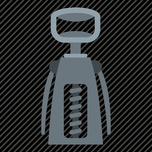 cork, corkscrew, drink, opener, tool, vintage, wine icon