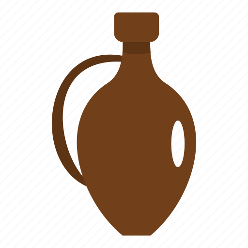 drink, history, jar, jug, old, white, wine icon