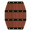 barrel, cask, drink, vintage, wine, winery, wood icon